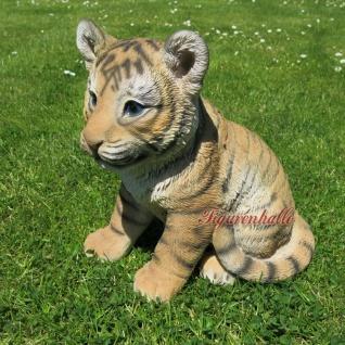 Löwe sitzend klein Babylöwe Löwenwelpe Figur Skulptur Dekoration Tier neu