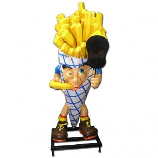 Pommes Tüte Mann Werbefigur Werbeaufsteller Figur Imbiss