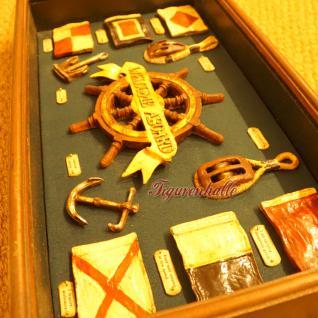 Vitrine Modell Seefahrt Maritim Deko Dekoration Steuerrad - Vorschau 4