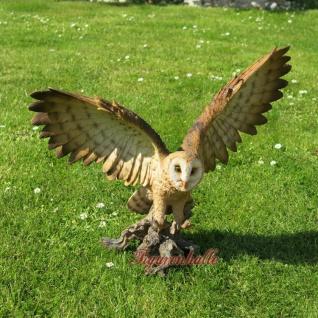 Eule Uhu Flügel Vogel Wald Wiesen Figur Skulptur Dekoration Tier neu - Vorschau 1