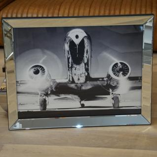 Wandbild Spiegelrahmen Flugzeug Nostalgie Druck Dakota DC-2 American Airlines - Vorschau 1