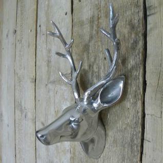 Hirschkopf Wild Reh Kopf Geweih aus Aluminium