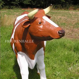 Kuh Lebensgroß Dekofigur Statue Braun Figur - Vorschau 3