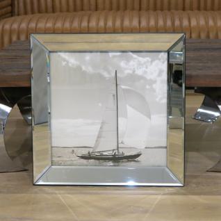 Spiegelrahmen Wandbild Segelyacht Segelschiff Maritim Kunstdruck