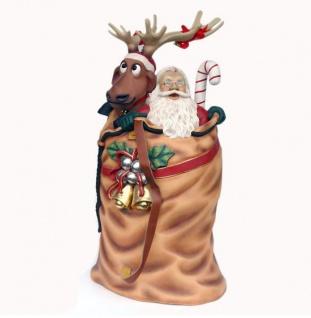 Weihnachtsmann im Sack als Figur Werbefigur
