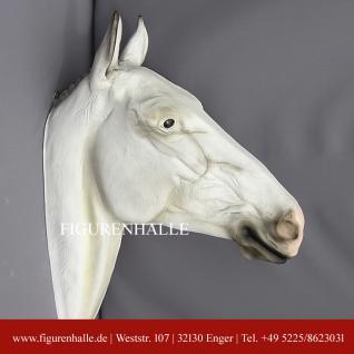 Pferdekopf Dekofigur 43cm Büste Pferd braun Tier Deko Hengst Stute  #1523