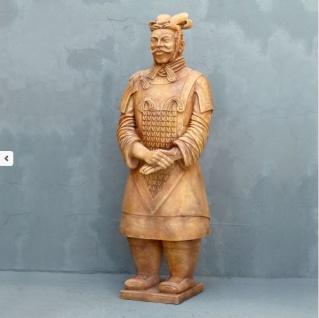 Terrakotta Krieger als Werbefigur