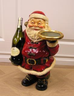Nikolaus Weihnachtsmann als Weihnacht Dekoration Figur Butler Flaschen
