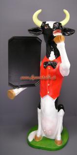 Kuh Werbefigur Gastronomiefigur Figur Werbeaufsteller
