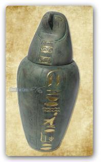 Kanope Urne Figur Skulptur Ägypten Statue Deko