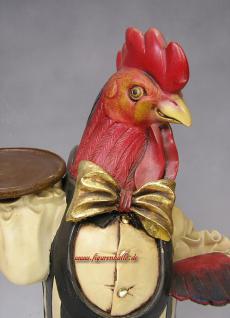 Huhn Hünchen Hahn Butlerfigur und Dekoration im Shabby Chic Stil
