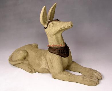 Ägyptischer Schakal Hund Dekofigur Statue Figur