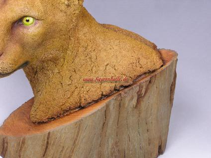 Puma Büste Wildtier Figur Statue Skulptur Deko Dekoration - Vorschau 4