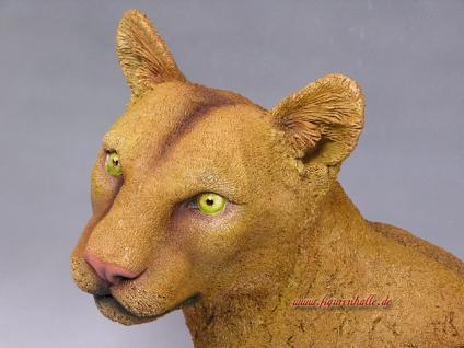 Puma Büste Wildtier Figur Statue Skulptur Deko Dekoration - Vorschau 2