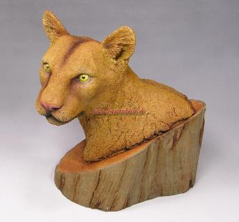 Puma Büste Wildtier Figur Statue Skulptur Deko Dekoration