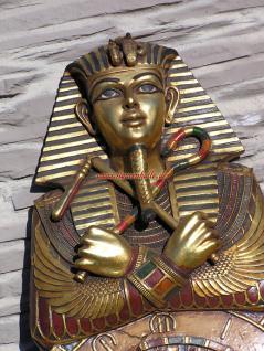 Tutanchamun Uhr Wanduhr Ägypten Ägyptische Statue Skulptur Deko - Vorschau 2