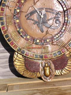 Tutanchamun Uhr Wanduhr Ägypten Ägyptische Statue Skulptur Deko - Vorschau 3