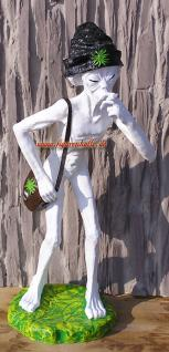 Alien Außerirdischer mit Joint Zigarette Cannabis Figur Statue Deko