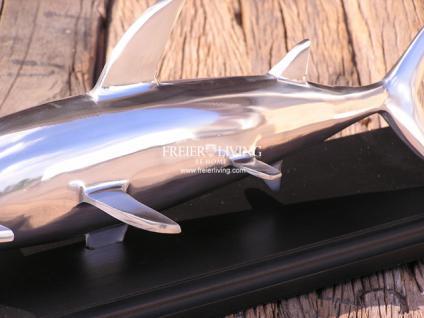Designer Hai Figur Skulptur Alu Aluminium Deko - Vorschau 4