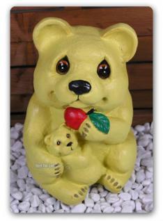 Bär in Teddybär Optik als Dekofigur Wetterfest