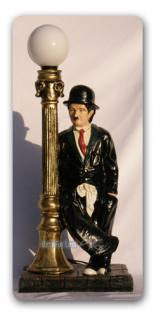 Charlie Chaplin Lampe Leuchte als Dekofigur Statue