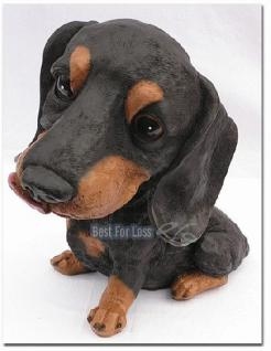 Dackel Dekofigur Tierfigur Deutscher Hunde Figur - Vorschau 3
