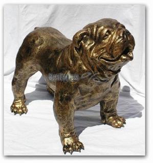 Englische Bulldogge Dekofigur Figur Tierfigur Deko - Vorschau 1