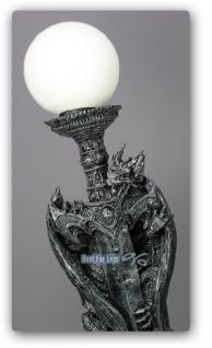 Drachenlampe Drachen Stehlampe Leuchter Figur