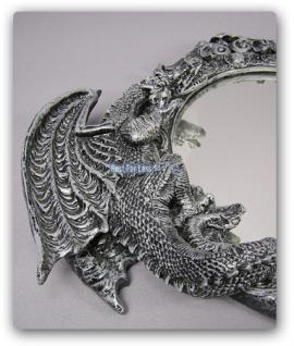Drachen Spiegel im Gothic Style Figur Statue Deko - Vorschau 2