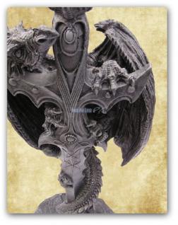 Drachen Stehlampe Lampe Figur Statue Deko - Vorschau 2