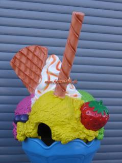 Eistüte Eis Werbefigur für Eisdiele Eisbecher Deko Mülleimer und Abfalleimer - Vorschau 3
