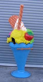 Eistüte Eis Werbefigur für Eisdiele Eisbecher Deko Mülleimer und Abfalleimer