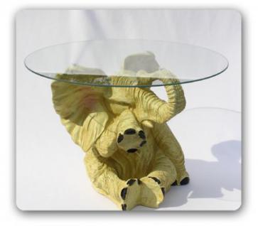 Elefant als Tisch Couschtisch Figur Dekotisch Fan