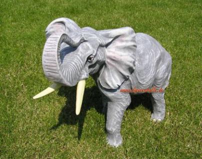 Elefant als Figur Skulptur Statue Deko Afrika Tier - Vorschau 2