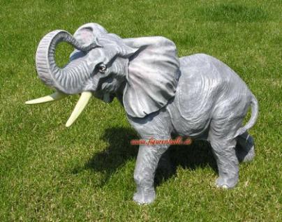 Elefant als Figur Skulptur Statue Deko Afrika Tier - Vorschau 3