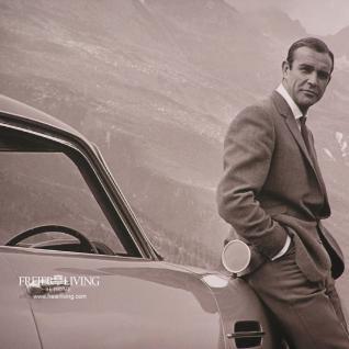 James Bond 007 schwarz weiß Foto Kunstdruck mit Rahmen - Vorschau 2
