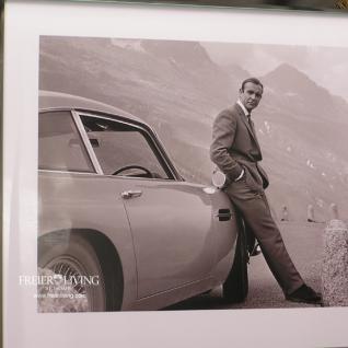 James Bond 007 schwarz weiß Foto Kunstdruck mit Rahmen - Vorschau 3