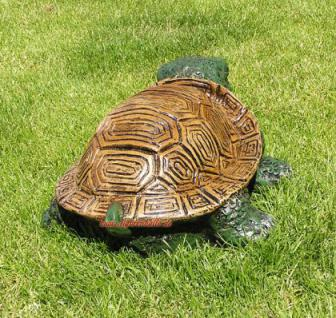 Lustige Gartenschildkröte Schildkröte Deko Garten - Vorschau 4