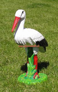 Storch Figur Klapperstorch Aufstellfigur Deko - Vorschau 2