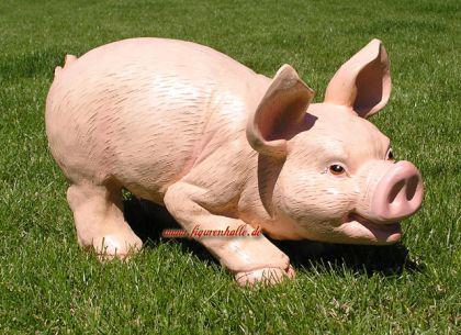 Schwein Ferkel als Dekofigur Statue - Vorschau 2