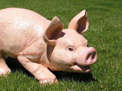Schwein Ferkel als Dekofigur Statue - Vorschau 1