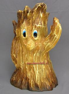 Baum Baumgesicht Gesicht Gartenfigur Figur Statue Skulptur Garten Blumentopf
