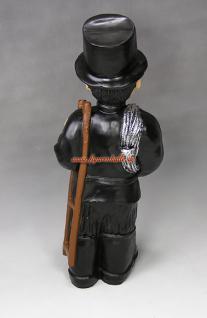 Schornsteinfeger Glücksbringer Silvester Deko Figur Statue Skulptur Dekoration groß - Vorschau 5