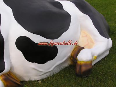 Kuh Lebensgroß Bauernhof Dekofigur - Vorschau 4