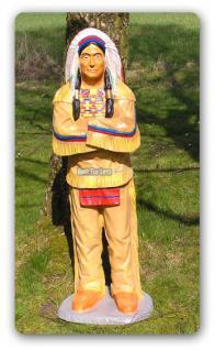 Indianer Dekofigur in Lebensgroß