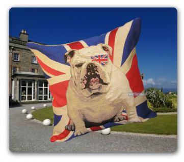 Englische Bulldogge Deko Kissen Wohnzimmerkissen