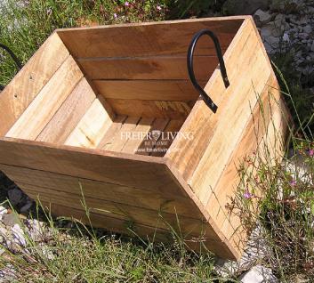 Holzkiste Holz Kiste Retro Obstkiste Nostalgie Blumenkiste - Vorschau 3