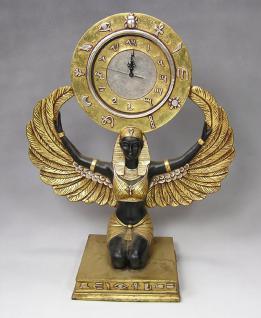 Ägyptische Isis Figur Ägypten Statue Skulptur Standuhr Deko