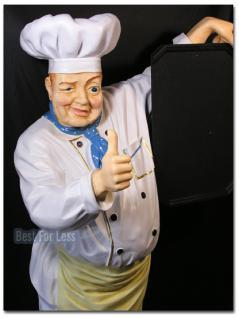 Koch Werbefigur Lebensgroß für Gastronomie