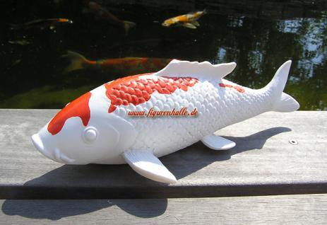 Japan Kohaku Koi Karpfen Figur Teichdekoration Fisch Statue